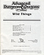 Wild Things (Advanced Dungeons & Dragons) by…