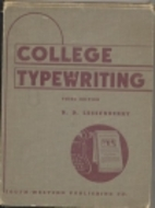 College typewriting: Complete course by D.…