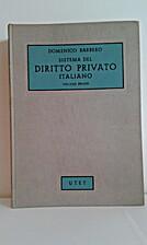 Sistema del diritto privato italiano - Vol.…