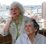 Author photo. Kay Williams (left) with Eileen Wyman, co-authors, Butcher of Dreams