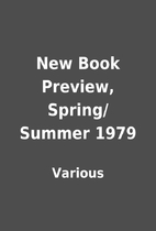 New Book Preview, Spring/Summer 1979 by…