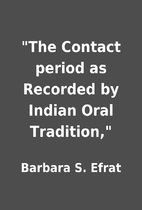 The Contact period as Recorded by Indian…
