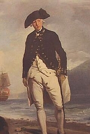 Author photo. Admiral Arthur Phillip (1786 portrait by Francis Wheatley, National Portrait Gallery, London) (Public domain ; Wikipedia)