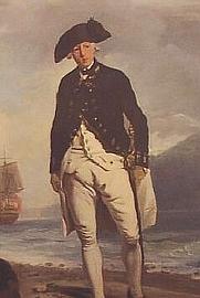 Author photo. Admiral Arthur Phillip (1786 portrait by Francis Wheatley, National Portrait Gallery, London) (Public domain ; Wikipedia)