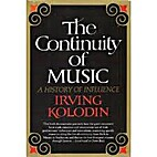 The continuity of music; a history of…