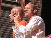 Author photo. Jonas Gardell (on right), with Mark Levengood.  Image by:  Maria Näsström.
