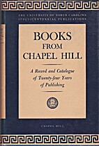 Books from Chapel Hill, a complete…