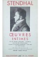 Oeuvres intimes by Stendhal