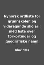 Nynorsk ordliste for grunnskolen og…