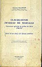 Claude-Henri Feydeau de Marville :…