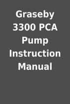 Graseby 3300 PCA Pump Instruction Manual