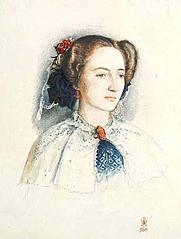 Author photo. Portrait of Effie Ruskin, later Millais, by Sir John Everett Millais.  www.leicestergalleries.com