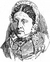 Author photo. Sketch of Mary Seacole (1805-1881) in c.1855, by William Simpson (1823-1899); (Wikipedia)