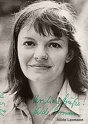 Author photo. Hilde Lermann (autograph card)