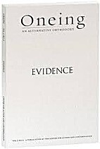 Oneing: Evidence by Richard Rohr