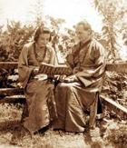 Author photo. Lama Govinda with his wife Li Gotami Lama Govinda mit seiner indischen Frau Li Gotami