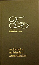 Faunus: The Journal of the Friends of Arthur…