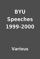 BYU Speeches 1999-2000 by Various