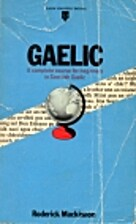Teach Yourself Gaelic by Roderick Mackinnon