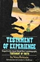 Testament of Experience by Vera Brittain