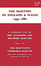 The Catholic Martyrs of England and Wales…