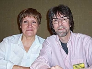 Author photo. Authors Spider Robinson and Jeanne Robinson at the 2004 Necronomicon. Photo by C. A. Bridges. (Via Wikipedia)