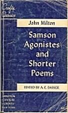 Samson Agonistes, and Shorter Poems by John…