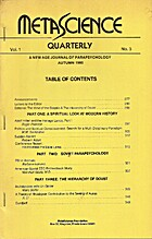 MetaScience Quarterly, Vol. 1, No. 3 by Marc…