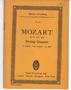 String Quartet in A Major K464 by Wolfgang…