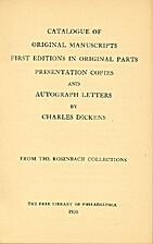 A Catalogue of Original Manuscripts, First…