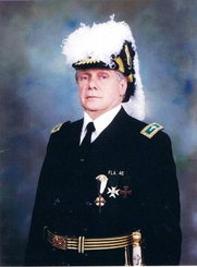 """Author photo. Right Eminent Grand Commander S.K. Charles """"Chic"""" Cicero of the Grand Commandery Knights Templar of Florida"""
