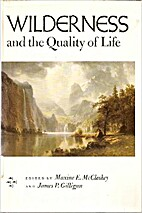 Wilderness and the quality of life…