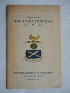 Thirty-Ninth Organization Day, 1891-1940,…
