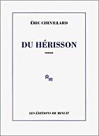 Du hérisson by Éric Chevillard