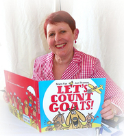 Author photo. Mem Fox with her latest book, Let's Count Goats, at the 2010 Baltimore Book Festival. ©2010