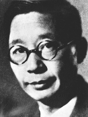 Author photo. Portrait photo of the writer Lao She (Author unknown)