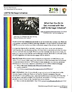 LGBTQ Heritage Initiative: What Can You Do…