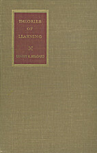 Theories of learning by Ernest R. Hilgard