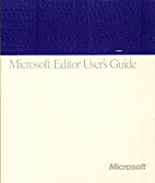 Microsoft Editor User's Guide (for the…