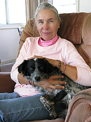 Author photo. Linda Lee Rathbun with her friend, Sheila. Photo by Steven David Miller