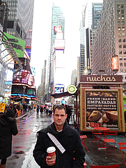 Author photo. David W. Brown in Times Square, 2014