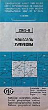 Mouscron - Zwevegem : Topografische kaart…