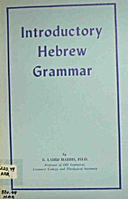 Introductory Hebrew Grammar by R. Laird…