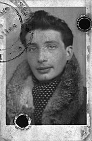 Author photo. 1943 French ID/passport photo of Édouard Boubat