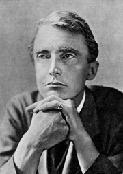 Author photo. Poet Edward Thomas (1878-1917). Image from <b><i>For remembrance: soldier poets who have fallen in the war</i></b> (1920) by Arthur St. John Adcock