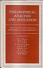 Philosophical Analysis and Education by…