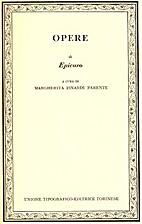 Opere di Epicuro by Margherita Isnardi…