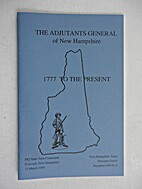 The Adjutant General of New Hampshire, 1777…