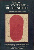Doctrine of Recognition: A Translation of…