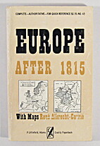 Europe after 1815 by Rene Albrecht-Carrie
